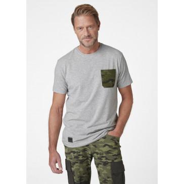 Koszulka bawełniana Kensington TShirt Grey Melange Camo